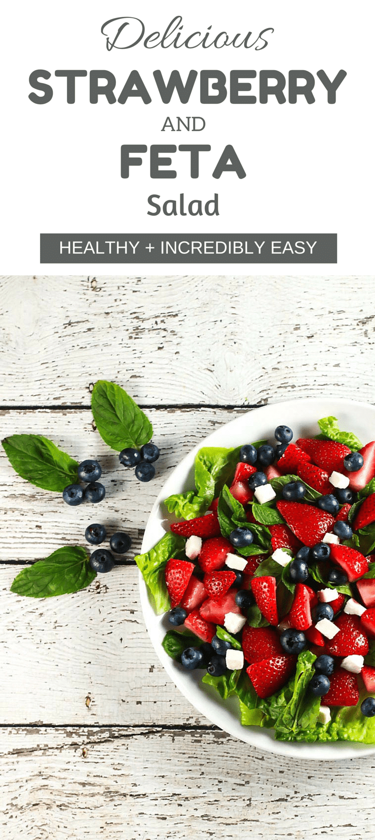 Delicious Strawberry and Feta Salad - This salad is SO fresh and delicious! Plus it's ready in no time so you have no excuse to not have a salad today!   ScrambledChefs.com