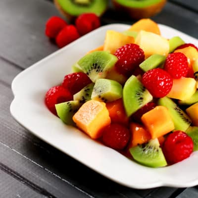 Mango Kiwi Raspberry Salad